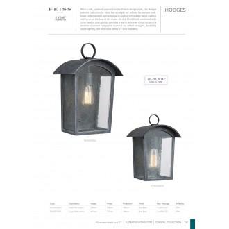 ELSTEAD FE/HODGES/L | Hodges Elstead fali lámpa tengerpartra tervezve 1x E27 IP44 UV antikolt vas, buborékos hatás
