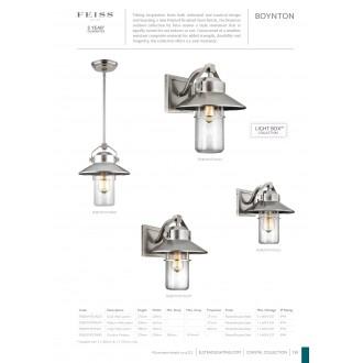 ELSTEAD FE/BOYNTON2/L | Boynton Elstead falikar lámpa tengerpartra tervezve, elforgatható alkatrészek 1x E27 IP44 UV csiszolt acél, buborékos hatás