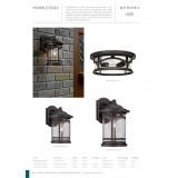 ELSTEAD QZ/MARBLEHEAD2/M | Marblehead Elstead falikar lámpa tengerpartra tervezve 1x E27 IP44 UV antikolt bronz, buborékos hatás