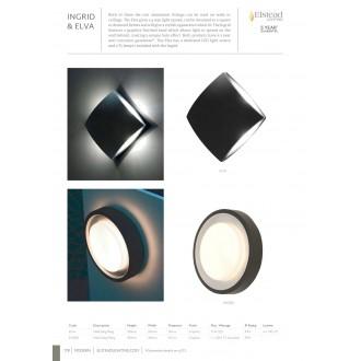 ELSTEAD ELVA | Elva Elstead stenové, stropné svietidlo 1x LED 760lm IP54 grafit, opál