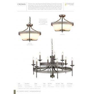 ELSTEAD CROWN9 | Crown-EL Elstead luster svietidlo 9x E14 starožitné železo
