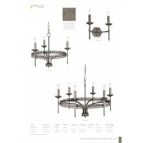 ELSTEAD CROWN2 | Crown-EL Elstead zidna svjetiljka 2x E14 antik gvožđe