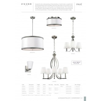 ELSTEAD FE/PAVE/F/S | Pave Elstead mennyezeti lámpa 2x E27 szatén nikkel, fehér