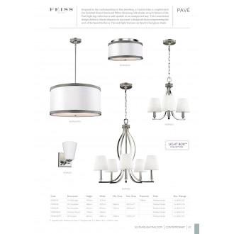 ELSTEAD FE/PAVE/F/S | Pave Elstead stropné svietidlo 2x E27 saténový nike, biela