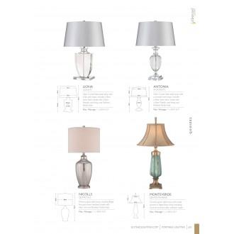 ELSTEAD ANTONIA/TL | Antonia-EL Elstead asztali lámpa 63cm kapcsoló 1x E27 króm, átlátszó