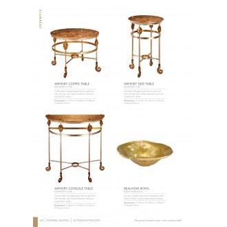 ELSTEAD FB/ARMORY CF/TBL | Elstead doplnky stôl ručne maľované starožitná zlata