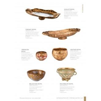 ELSTEAD FB/ROCHEBL. BOWL | Elstead doplnky miska ručne maľované starožitná zlata, opál