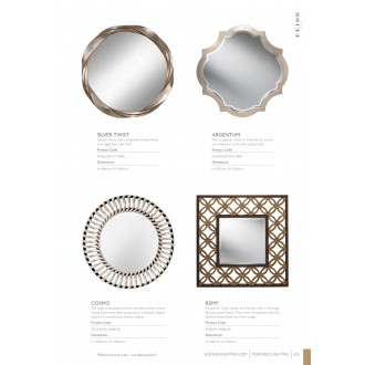 ELSTEAD FE/COSMO MIRROR | Cosmo-Mirror Elstead tükör kiegészítő fekete, ezüst, tükör