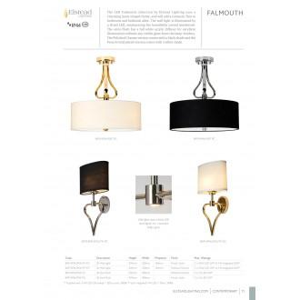 ELSTEAD BATH/FALM/SF FG | Falmouth Elstead mennyezeti lámpa 3x G9 960lm 3000K IP44 arany, krémszín, fehér