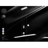 GLOBO 68166 | Tjorven-I Globo visilica lampa sa tiristorskim dodirnim prekidačem jačina svetlosti se može podešavati, sa podešavanjem temperature boje, balansna - ravnotežna, sa visinskim podešavanjem 1x LED 1627lm 3000 <-> 6000K krom, belo