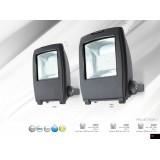 GLOBO 34221 | Projecteur-I Globo reflektor lampa elementi koji se mogu okretati 1x LED 6000lm 6500K IP65 tamno siva, providno