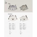GLOBO 55010E | Christine-Timo Globo ugradbena svjetiljka 90x90mm 1x LED 378lm 3000K krom, bijelo