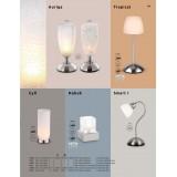 GLOBO 2170 | Smart-I Globo stolna svjetiljka 31cm sa dodirnim prekidačem 1x E14 poniklano mat, bijelo