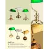 GLOBO 24917R | Antique Globo stona lampa 24cm sa prekidačem na kablu 1x E14 rdža braon, antik zlato