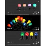 GLOBO 3401 | Nirvana Globo dekoracija svjetiljka 20x LED 75lm IP44 crno, višebojno