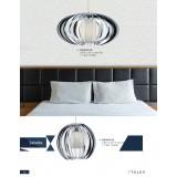 ITALUX MD16092-1B   Sabella Italux függeszték lámpa 1x E27 króm, fehér