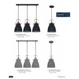 ITALUX MD-HN8026S-3-B+RC | Franklin Italux függeszték lámpa 3x E27 vörösréz, fekete