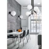 JUPITER 1738 TI K CZ/NI | Tim Jupiter falikar lámpa 1x E14 nikkel, fekete, fehér