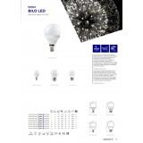 KANLUX 23042 | E14 5W -> 37W Kanlux kis gömb G45 LED fényforrás SMD 420lm 3000K 200° CRI>80