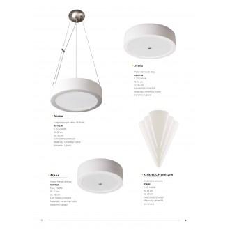 LAMPEX 021/P26 | Atena Lampex mennyezeti lámpa 1x E27 fehér, króm