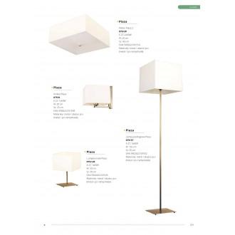 LAMPEX 075/LM PAT | Plaza Lampex asztali lámpa 33cm 1x E27 bronz, fehér