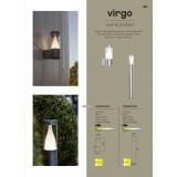 LUTEC 7008201001 | Virgo-LU Lutec podna svjetiljka 75cm 1x LED 350lm 3000K IP44 plemeniti čelik, čelik sivo, prozirno