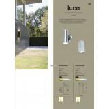 LUTEC 5002301001 | Luca-LU Lutec falikar lámpa 1x LED 600lm 3000K IP44 nemesacél, rozsdamentes acél, átlátszó