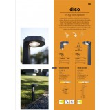 LUTEC 6906703335 | Diso Lutec zapichovacie, stojaté svietidlo slnečné kolektorové / solárne, otočné prvky 1x LED 200lm 4000K IP44 antracitová sivá, priesvitné