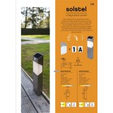 LUTEC 6907901000 | Solstel Lutec zidna svjetiljka sa senzorom, s prekidačem solarna baterija 1x LED 100lm 4000K IP44 plemeniti čelik, čelik sivo, opal