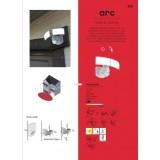 LUTEC 6334102112 | Seine Lutec stenové, stropné svietidlo 1x LED 150lm 3000K IP54 strieborno sivá, opál