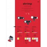 LUTEC 7622104330 | Shrimp Lutec reflektor svjetiljka sa senzorom, svjetlosni senzor - sumračni prekidač elementi koji se mogu okretati 2x LED 1360lm 5000K IP54 crno, prozirno