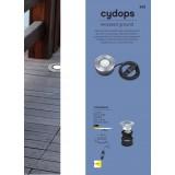 LUTEC 7704212012 | Cydops Lutec ugradbena svjetiljka Ø110mm 1x LED 580lm 4000K IP67 plemeniti čelik, čelik sivo, prozirno