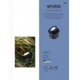 LUTEC 7701301012 | Arctic-LU Lutec ugradbena svjetiljka izvori svjetlosti koji se mogu okretati Ø180mm 1x LED 650lm 4000K IP67 plemeniti čelik, čelik sivo, acidni