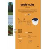LUTEC 6908001340   Table-Cube Lutec prenosné, stolové svietidlo dotykový prepínač s reguláciou svetla slnečné kolektorové / solárne, regulovateľná intenzita svetla 1x LED 100lm 3000K IP44 pomaranč, opál