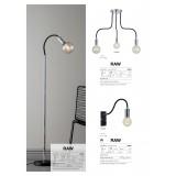 MARKSLOJD 106600 | Raw Markslojd falikar lámpa fényerőszabályzós kapcsoló szabályozható fényerő 1x E27 króm, fekete