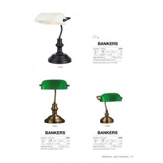 MARKSLOJD 107354 | Bankers Markslojd asztali lámpa 42cm vezeték kapcsoló 1x E14 fekete, fehér