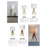 MARKSLOJD 104625   Kullen Markslojd asztali lámpa 44cm vezeték kapcsoló 1x E14 tölgy, fehér