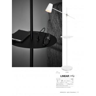 MARKSLOJD 107307 | Linear-MS Markslojd álló lámpa 125cm kapcsoló elforgatható alkatrészek, USB csatlakozó 1x E14 fekete, króm