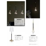 MARKSLOJD 106708 | Saddle Markslojd függeszték lámpa 3x E27 sárgaréz, fekete