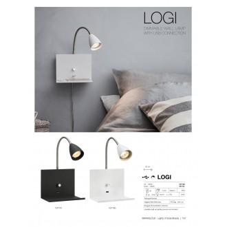 MARKSLOJD 107140 | Logi Markslojd falikar lámpa fényerőszabályzós kapcsoló szabályozható fényerő, USB csatlakozó 1x GU10 fehér, króm