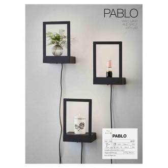 MARKSLOJD 107177 | Pablo-MS Markslojd stenové svietidlo prepínač 1x LED 300lm čierna