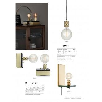 MARKSLOJD 107222 | Etui Markslojd zidna svjetiljka sa prekidačem na kablu 1x E27 zeleni marmor, mesing