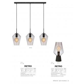 MARKSLOJD 107131 | Retro-MS Markslojd stolna svjetiljka 34,5cm s prekidačem 1x E27 crno, dim, prozirno
