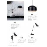 MARKSLOJD 106781 | Cal Markslojd asztali lámpa 49cm vezeték kapcsoló elforgatható alkatrészek 1x E14 fekete, fehér