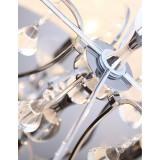 MAXLIGHT C0060 | Amsterdam Maxlight stropne svjetiljke svjetiljka 5x E14 krom, bijelo, prozirno