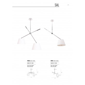 MAXLIGHT P0281 | Sal Maxlight stropne svjetiljke svjetiljka elementi koji se mogu okretati 1x E27 krom, bijelo