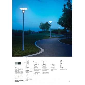 NORLYS 3004AL | Pillar-NO Norlys stĺp svietidla doplnok nastaviteľná výška IP65 hliník