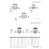 NOWODVORSKI 6822 | Downlight-LED Nowodvorski beépíthető lámpa billenthető Ø108mm 1x LED 550lm 4000K fehér