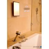 NOWODVORSKI 3755 | Garda Nowodvorski fali, mennyezeti lámpa energiatakarékos izzóhoz tervezve 1x E27 IP65 UV barna