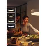 PHILIPS 40340/30/P7 | PHILIPS-hue_Fair Philips plafonjere hue smart rasveta okrugli daljinski upravljač jačina svetlosti se može podešavati, sa podešavanjem temperature boje 1x LED 3000lm 2200 <-> 6500K crno, belo